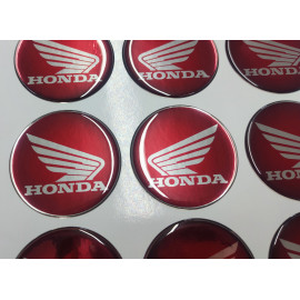2 Logos Honda diamètre 60 en relief rouge