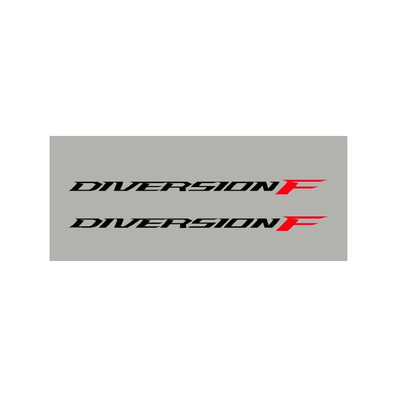 lot de 2 stickers Yamaha diversion F