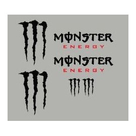 Kit pegatinas decorativas Monster Energy