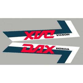 2 adesivos Honda DAX bande bleu naval