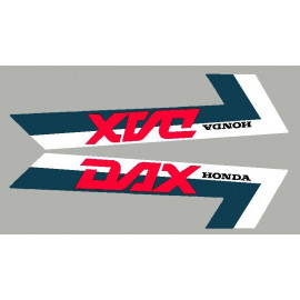 2 stickers pour Honda DAX bande bleu naval