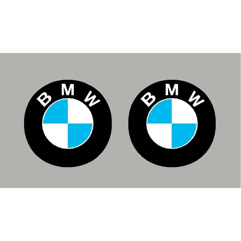 2 stickers autocollants logo bmw. Black Bedroom Furniture Sets. Home Design Ideas