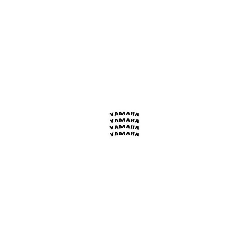 4 stickers YAMAHA courbé pour jante