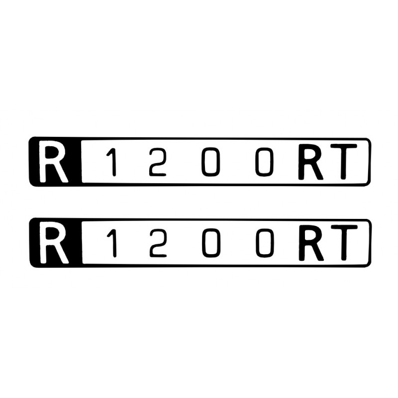 2 stickers pour BMW R1200RT