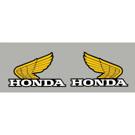 2 stickers Ancienne aile honda 180x110 mm