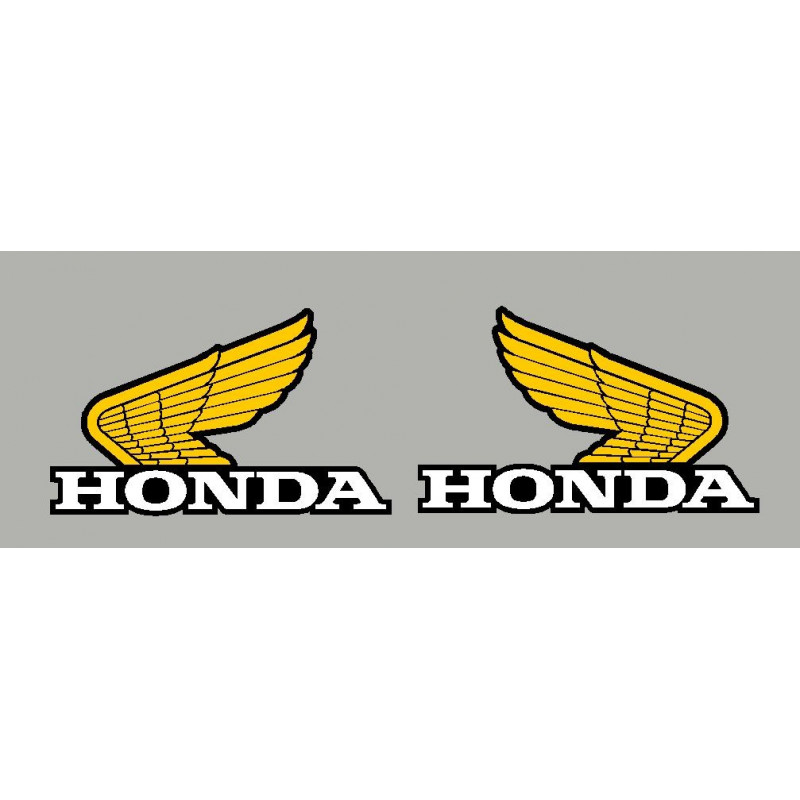 2 stickers Ancienne aile honda