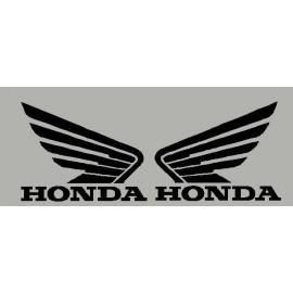 Par de pegatinas alas Honda