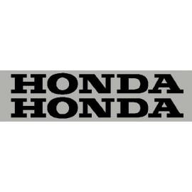 2 stickers autocollant lettrage HONDA 25 cm
