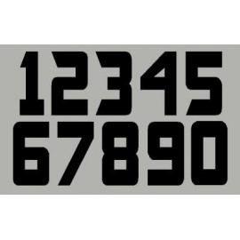 3 Números de la raza 12 cm oficiales US