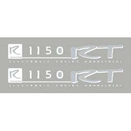 2 stickers pour BMW R1150RT blanc/argent