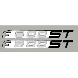2 pegatinas para BMW F800ST blanco/negro