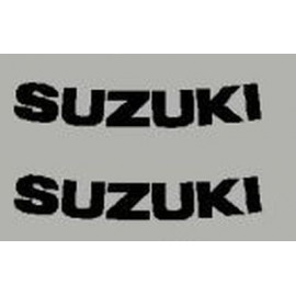 2 lettrage Suzuki dim 75x14 mm