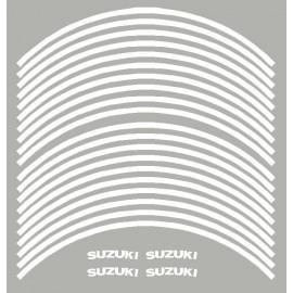 4 Suzuki courbé + 20 liserets de jante pré-courbé