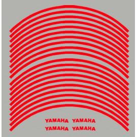 4 Yamaha courbé + 20 liserets de jante pré-courbé