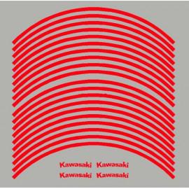 4 Kawasaki courbé + 20 liserets de jante pré-courbé