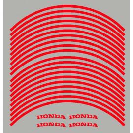 4 Honda + 20 pegatinas de llantas ya curvadas