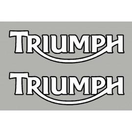2 pegatinas TRIUMPH ct negro