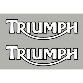 2 stickers TRIUMPH