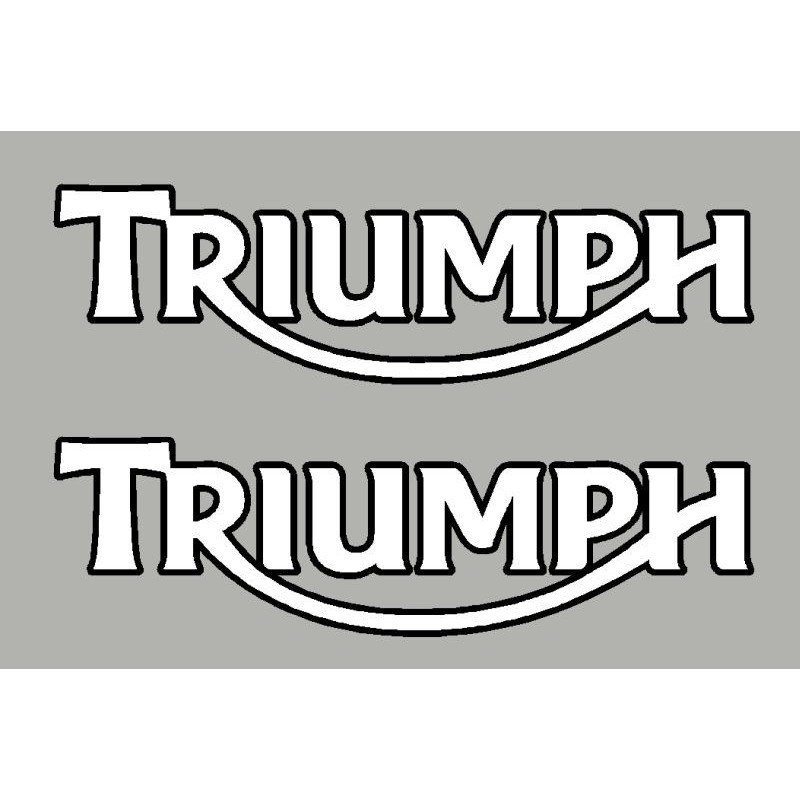 2 stickers TRIUMPH ct noir