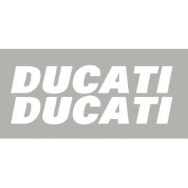 2 adesivos Ducati de 250 mm