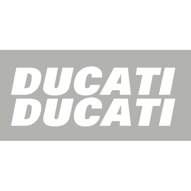 2 Sticker autocollants Ducati de 250 mm