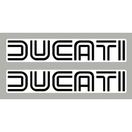 2 Sticker autocollants Ducati de 250 mm