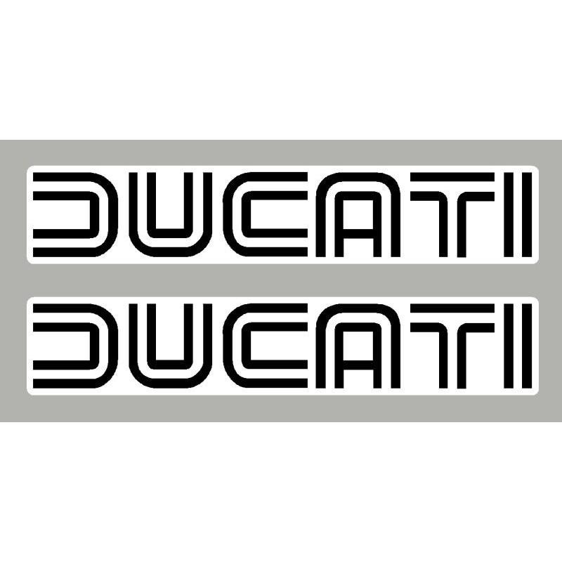 2 Stickers autocollants Ducati ancien lettrage
