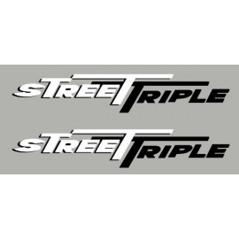 2 stickers Street Triple 2 couleurs