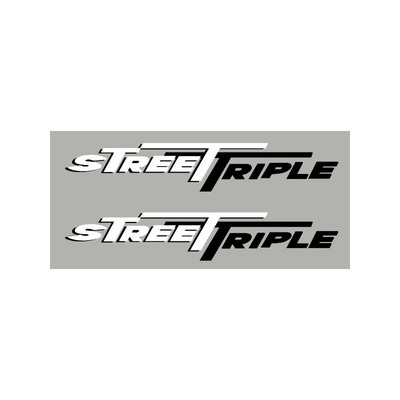 2 stickers Street Triple 2 couleurs
