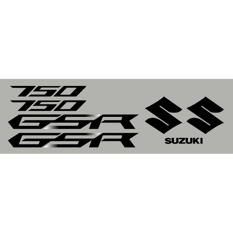 kit 2 stickers SUZUKI GSR 12-13