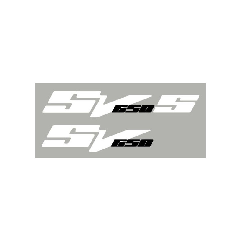 Lot de 2 sticker SV650 N ou S