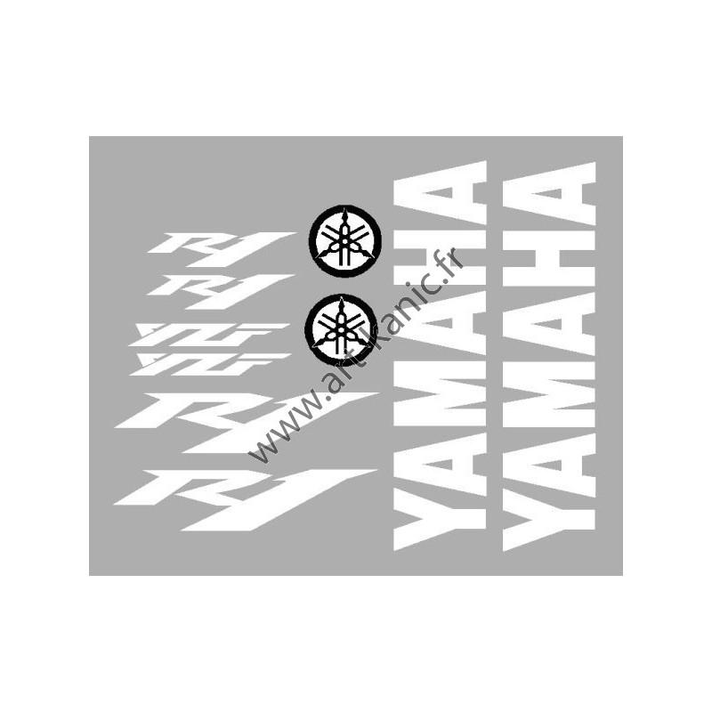 kit stickers autocollants pour moto yamaha r6 ou yamaha r1. Black Bedroom Furniture Sets. Home Design Ideas