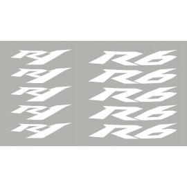 4 stickers R1 ou R6 courbés pour jante