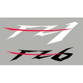 4 pegatinas FZ1 et FZ6 para llantas