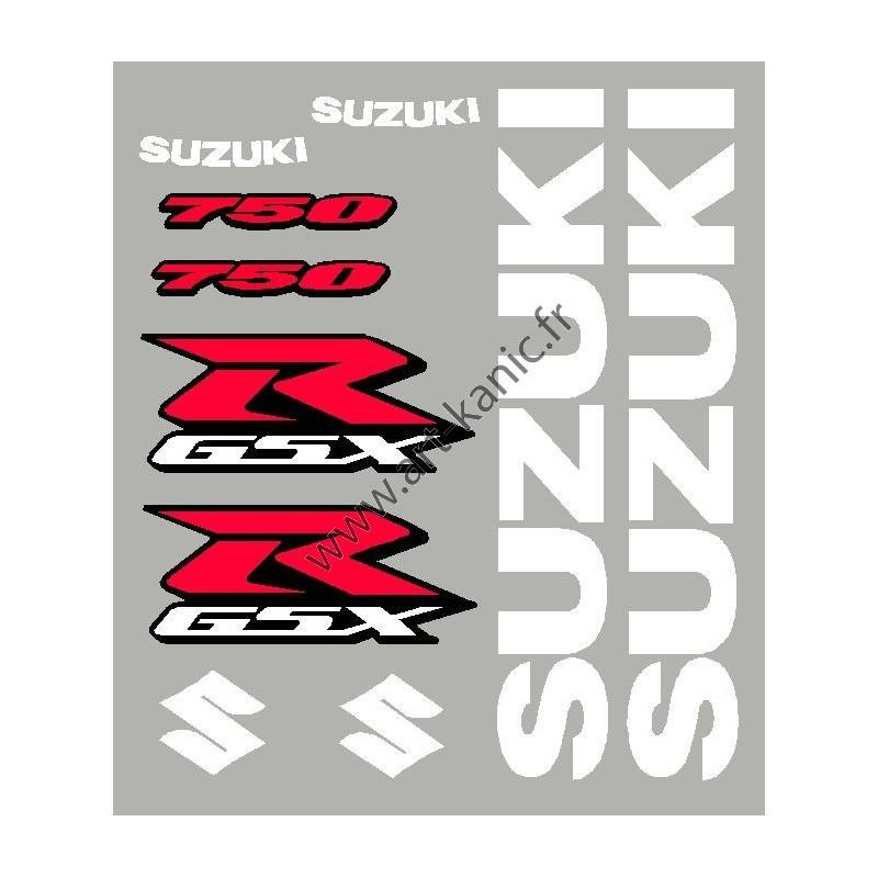 kit sticker autocollant suzuki gsxr 600 750 ou 1000. Black Bedroom Furniture Sets. Home Design Ideas